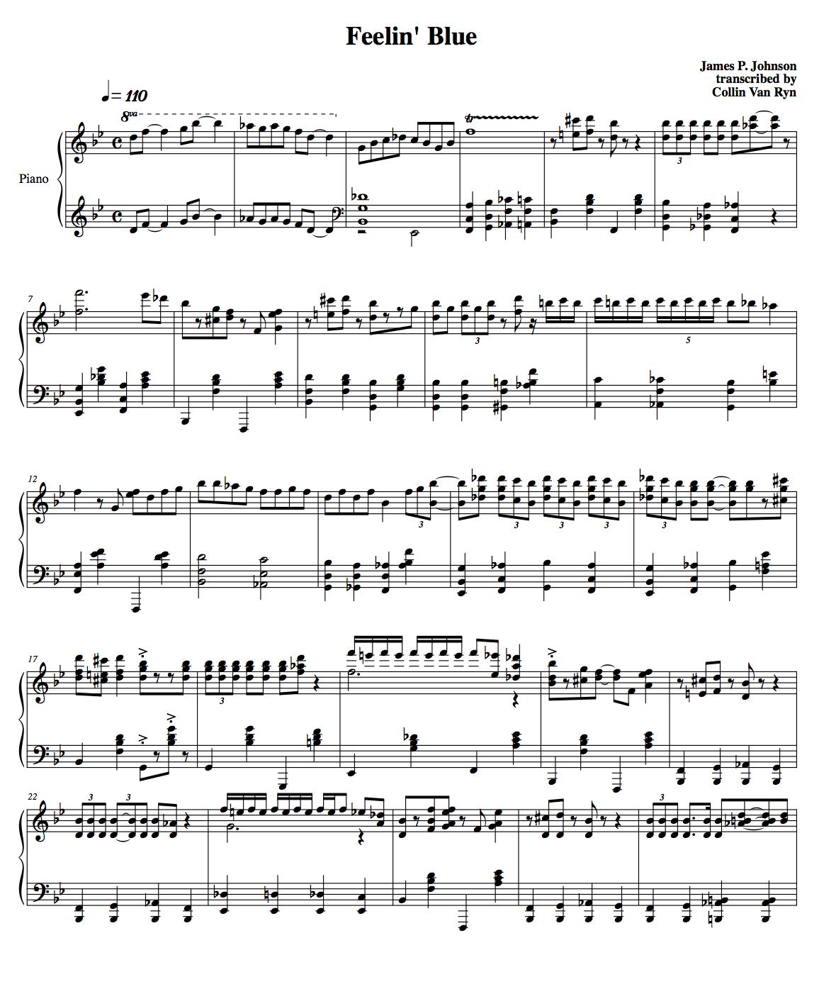 Learning Blues Piano From Music Score: Slow Blues Piano Sheet Music Pdf