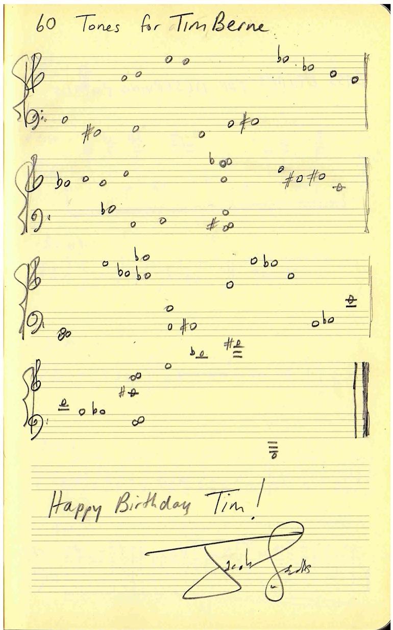 60 Tones for Tim Berne