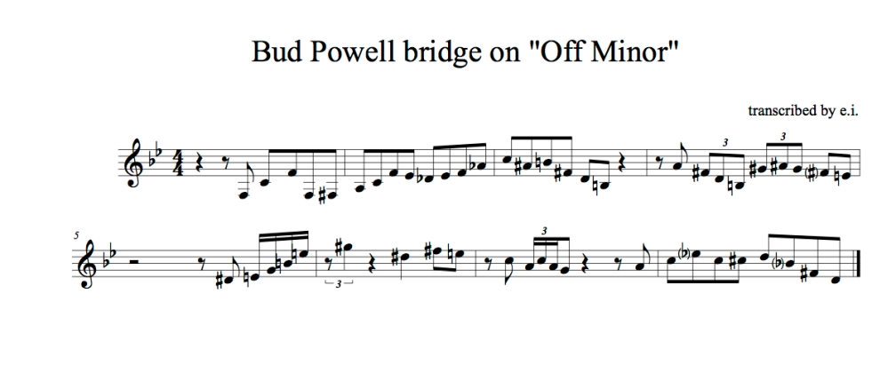 Off Minor bridge