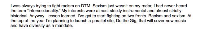 sexist DTM