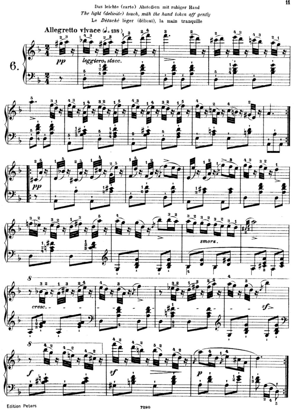 Czerny D minor