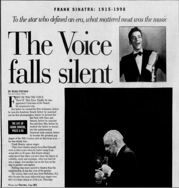 Sinatra obit